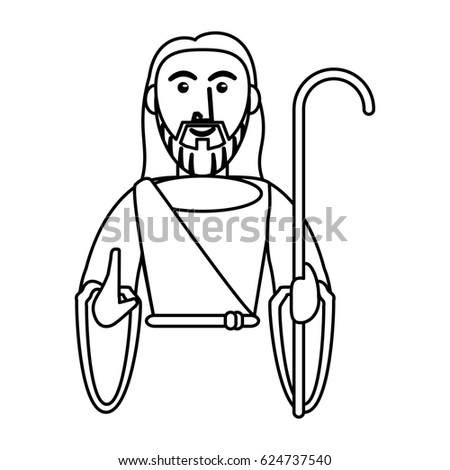 Jesus Christ Catholic Symbol Outline Stock Vector 624737540