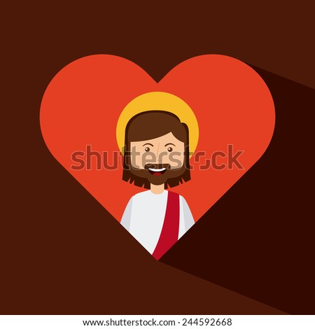 jesus christ design, vector illustration eps10 graphic - stock vector