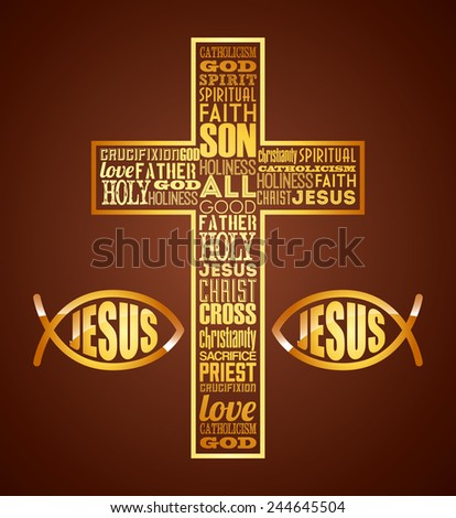 jesus christ design, vector illustration eps10 graphic - stock vector