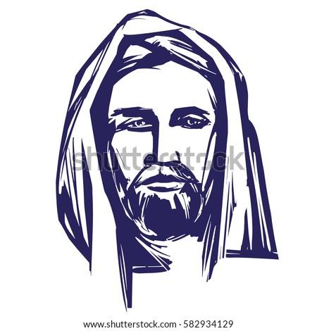 Jesus christ son god symbol christianity 582934129 jesus christ the son of god symbol of christianity hand drawn vector illustration sketch voltagebd Images