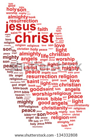 Jesus Christ Word Cloud Concept - stock vector