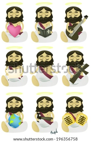 Jesus Collection - stock vector