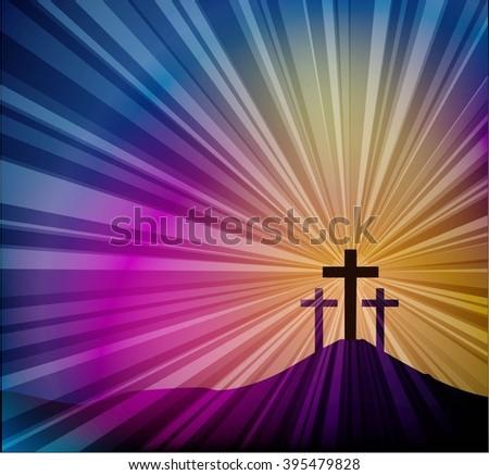 Jesus cross bible - stock vector
