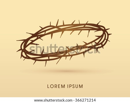 Jesus crown of thorns graphic vector - stock vector