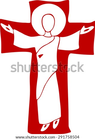 Jesus Is Risen. Happy Easter. Jesus Christ Resurrection. Jesus Christ, blessing, Christianity. - stock vector