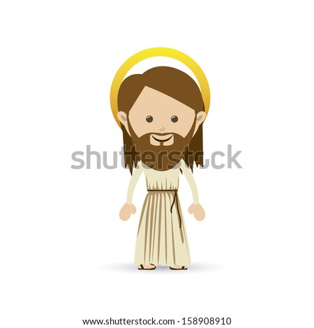 jesuschrist design over white background vector illustration - stock vector