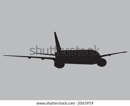Jet airplane vector that can be resized to any size. - stock vector