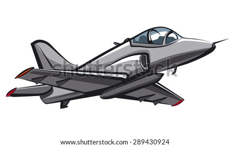 jet fighter - stock vector