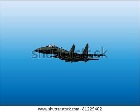 Jet fighter - stock vector