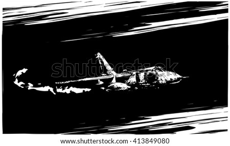 Jet plane - stock vector