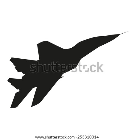 Jet plane. Vector silhouette - stock vector