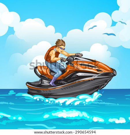 Jet scooter - stock vector