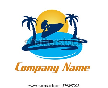 jet ski logo stock vector 579397033 - shutterstock