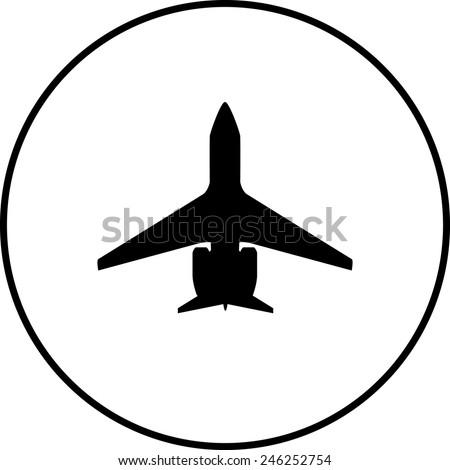 jet symbol - stock vector