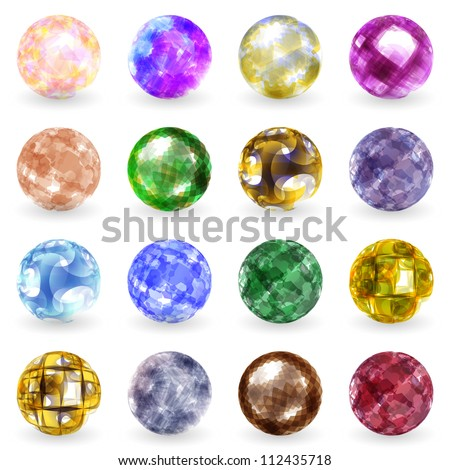 Jewel set. Vector illustration. - stock vector