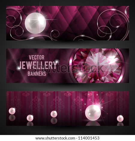 Jewellery banners set