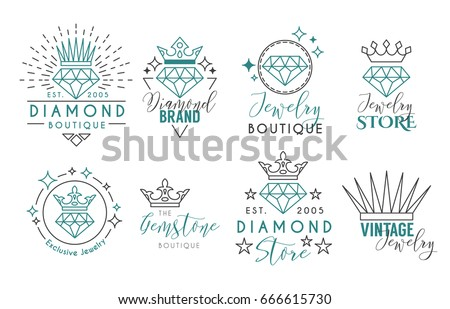 Jewelry logo set label template jewelry stock vector royalty free jewelry logo set or label template for jewelry store jeweler business card vector typography reheart Gallery