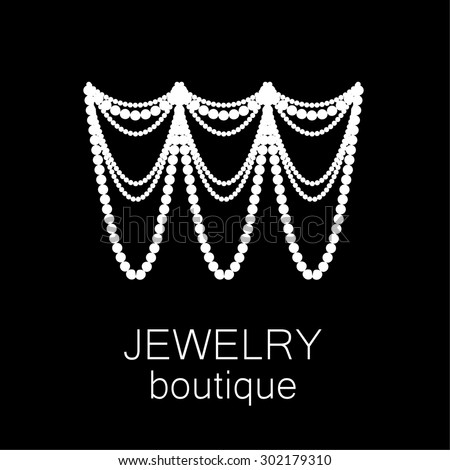 Jewelry - template logo for jewelry salon, manufacture of jewelry, brand jewelry. - stock vector