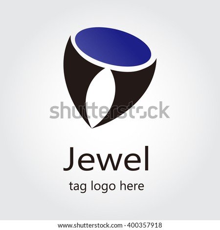 jewels abstract vector and logo design or template decorative ornament business icon of company identity symbol concept - stock vector