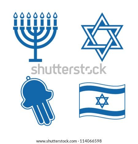 Jewish icons. - stock vector