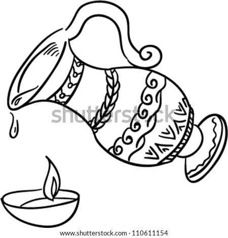 Clip Art Jewish Oil Lamp
