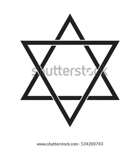 jewish star david six pointed star stock vector 2018 534200743 rh shutterstock com Star Silhouette Clip Art Pink Star Clip Art