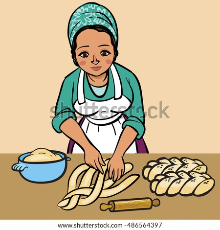 https://thumb1.shutterstock.com/display_pic_with_logo/2679784/486564397/stock-vector-jewish-woman-makes-a-shabbats-hala-486564397.jpg