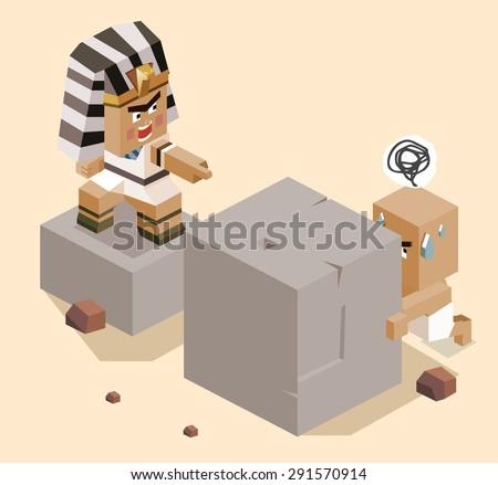 jews slavery in egypt. vector illustration - stock vector