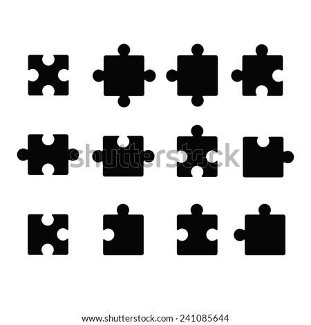 Jigsaw icon - stock vector