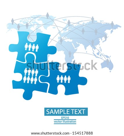 jigsaw puzzle. connection. vector Illustration. - stock vector