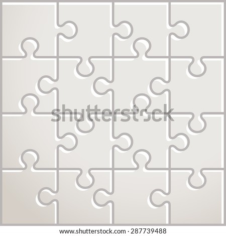 Jigsaw-Puzzle Illustration