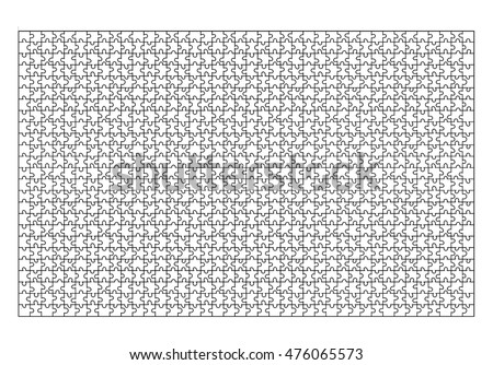Jigsaw Puzzle Template 1000 Pieces Vector Design