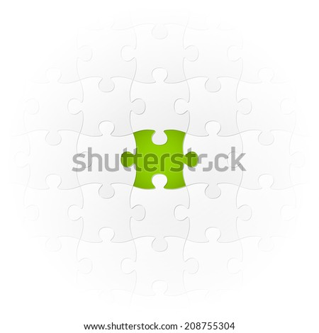 Jigsaw Puzzle - the very special part - stock vector