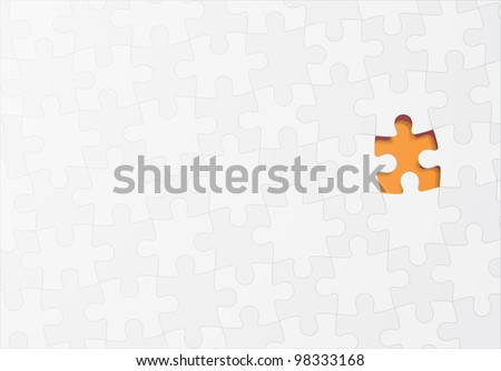 Jigsaw puzzle vector concept background - stock vector