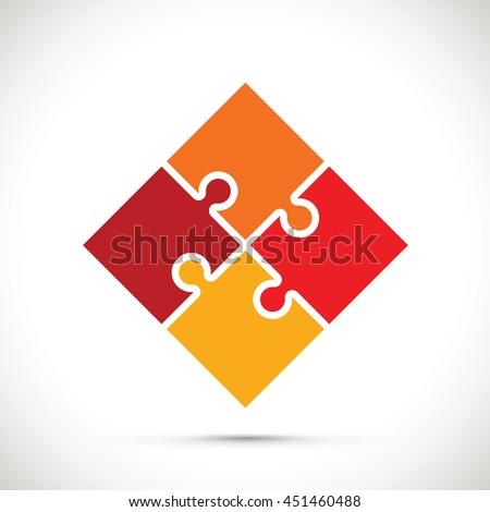 jigsaw section - stock vector