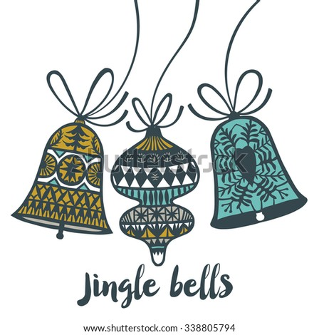 Jingle Bells. Print design - stock vector