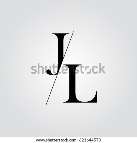 stock-vector-jl-logo-621644573 Jl Letter Logo Template on