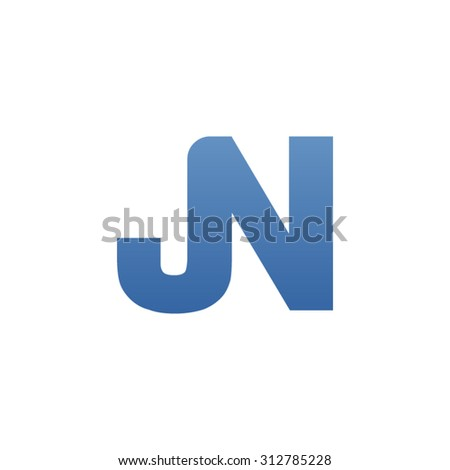JN letter icon logo connected - stock vector