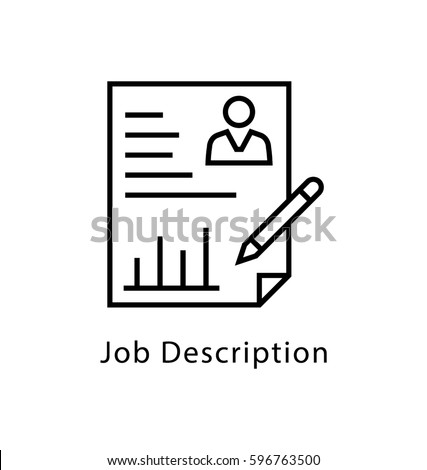 Resume Icon Flat Stock Vector   Shutterstock