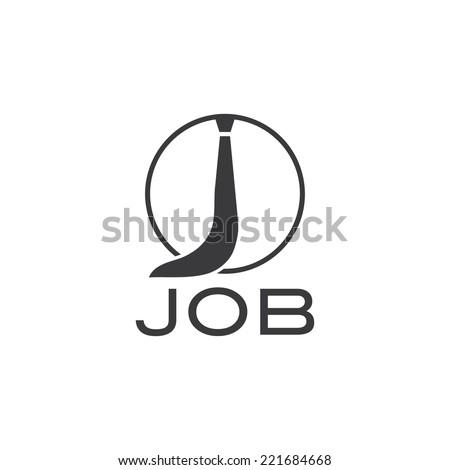 job illustration with tie - stock vector