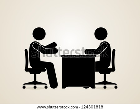job interview - stock vector