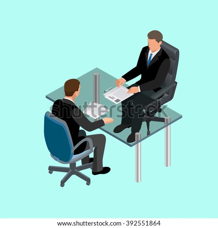 Job interview business, Job interview icon, Job interview isometric, job interview man, Job interview icon new, Job interview interviews, Job interview interviewing, Job interview in office - stock vector