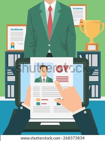 Job interview concept - stock vector