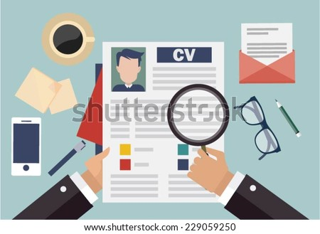 Job Interview Concept Business Cv Resume Stock Vector 229059250 ...