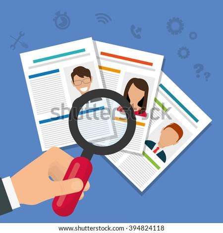 Job interview icon design - stock vector