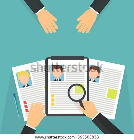 job interview - infographic - stock vector