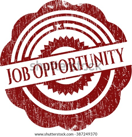 Job Opportunity rubber grunge stamp