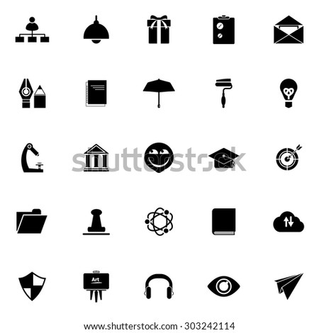 Resume icons set