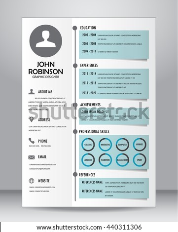 job resume cv template layout templateのベクター画像素材 440311306