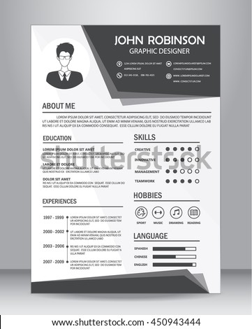 Resume Template Stock Images RoyaltyFree Images  Vectors